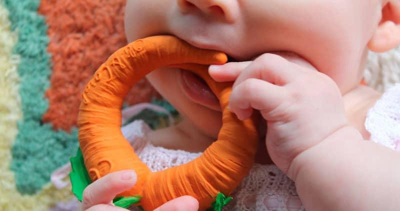 دندانگیر نوزاد مدل پارچه ایی